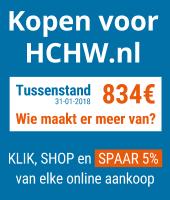 Ga naar Kopen voor HCHW en spaar 5% van elke online aankoop bij Bol.com, Coolblue, Wehkamp en Bijenkorf.nl